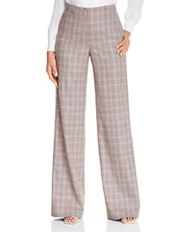 Lafayette 148 New York - Dalton Plaid Wide-Leg Pants