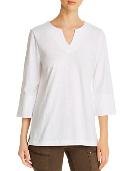 Tommy Bahama - Embroidered-Neck Knit Tunic