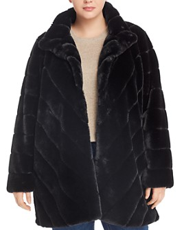 Calvin Klein Plus - Faux-Fur Coat