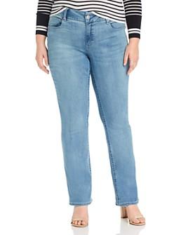 Seven7 Jeans Plus - Lia Tummyless Micro-Bootcut Jeans in Gypsy
