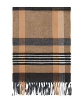 The Men's Store at Bloomingdale's - Striped Plaid Scarf - 100% Exclusive
