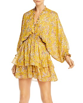 The Kooples - Feuille D'or Silk-Blend Dress