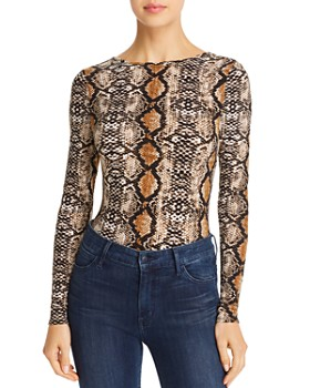 AQUA - Snake Print Bodysuit - 100% Exclusive