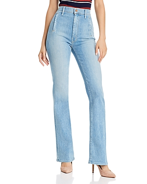 Mother Jeans THE DRAMA HIGH-RISE FLARED JEANS IN MAPPING IT OUT