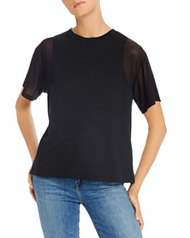 LNA - India Mesh-Sleeve Tee