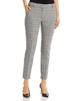 Marella - Lea Ankle-Length Plaid Pants