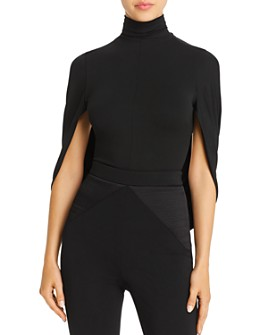 Cushnie - Open-Back Cape-Sleeve Bodysuit