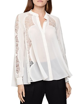 REISS - Fianna Lace-Inset Blouse