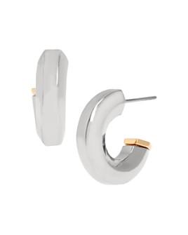ALLSAINTS - Bypass Hexagon Huggie Hoop Earrings