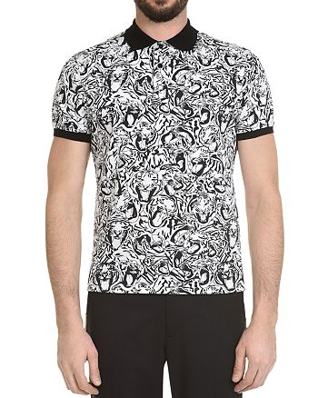 Just Cavalli - Tiger-Print Slim Fit Polo Shirt