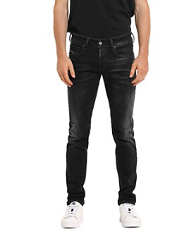 Diesel - Sleenker Skinny Fit Jeans in Black Denim