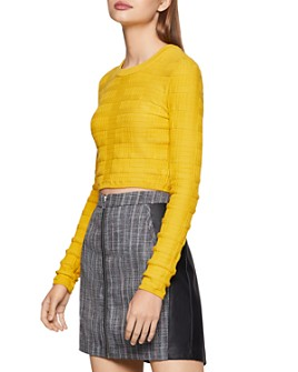 BCBGENERATION - Cropped Plaid Sweater