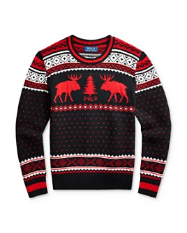 Ralph Lauren - Boys' Reindeer Sweater - Big Kid