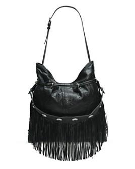 Frye - Sacha Fringe Small Leather Hobo