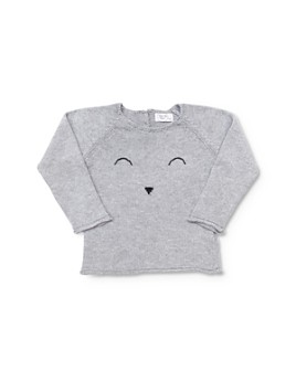 Tun Tun - Unisex Stitched Face Sweater - Baby
