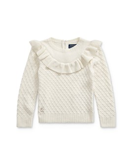 Ralph Lauren - Girls' Ruffled Metallic Sweater - Little Kid