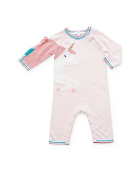 Angel Dear - Girls' Knit Unicorn Coverall - Baby
