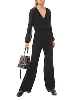MICHAEL Michael Kors - Ruffled Wide-Leg Georgette Jumpsuit