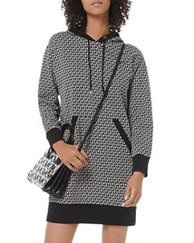 MICHAEL Michael Kors - Logo-Lettered Cotton-Terry Hoodie Dress