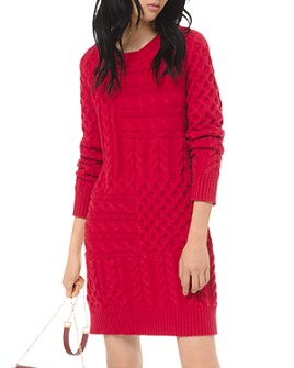 MICHAEL Michael Kors - Cable-Knit Mini Sweater Dress