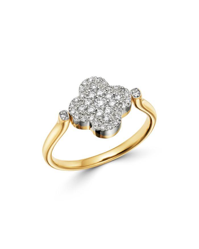 Bloomingdale's Black Onyx & Diamond Reversible Clover Ring in 14K Yellow Gold - 100% Exclusive  | Bloomingdale's
