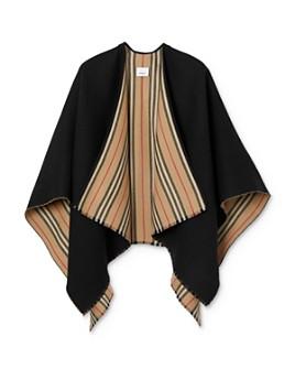 Burberry - Icon Stripe Wool Cape