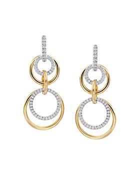 Gumuchian - 18K Yellow Gold & 18K White Gold Moon Phase Convertible Drop Earrings