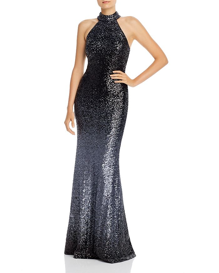 AQUA - Ombré Sequined Gown - 100% Exclusive