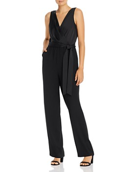Donna Karan - Belted V-Neck Jumpsuit
