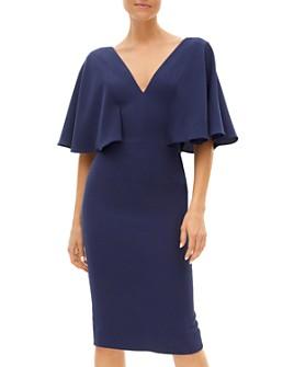 Dress the Population - Louisa Flutter Sleeve Sheath Dress