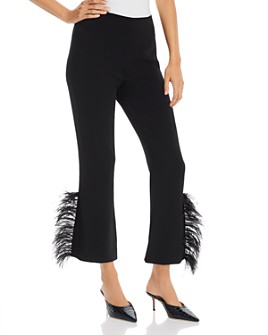 Cinq à Sept - Portia Feather-Trimmed Ankle Pants