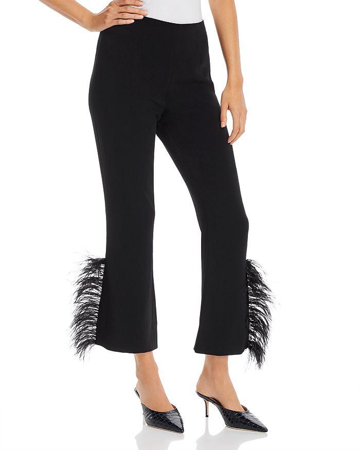 Cinq à Sept - Portia Feather-Trimmed Ankle Pants