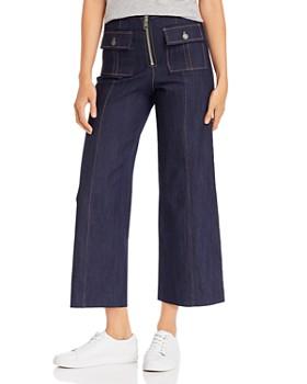 Cinq à Sept - Cropped Azure Jeans in Indigo