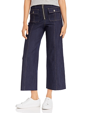 Cinq a Sept Cropped Azure Jeans in Indigo