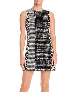 Alice and Olivia - Clyde Patchwork A-Line Shift Dress