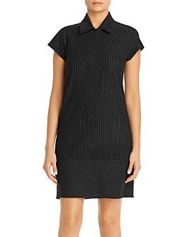 SNIDER - Victoria Pinstriped Shirt Dress