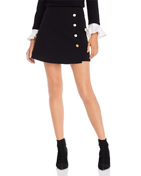Alice and Olivia - Sherilyn Button Detail Skort