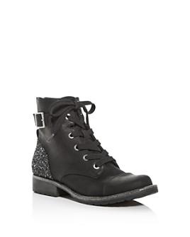 Dolce Vita - Girls' Lama Glitter Cap-Toe Combat Boots - Toddler, Little Kid