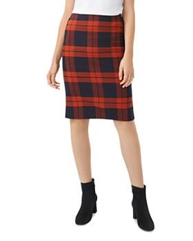 HOBBS LONDON - Rene Plaid Pencil Skirt
