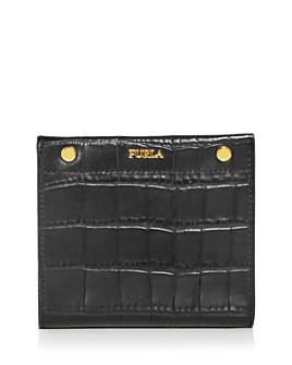 Furla - Lady M Croc-Embossed Leather Bi-Fold Wallet