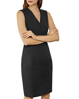 Ted Baker - Saloted  Working Title Contrast Neck Sheath Dress