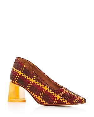 Miista Women\'s Gertrude Woven Block-Heel Pumps