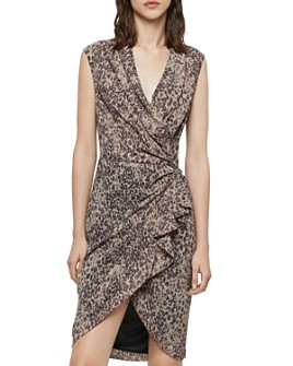ALLSAINTS - Cancity Patch Leopard Print Wrap Dress
