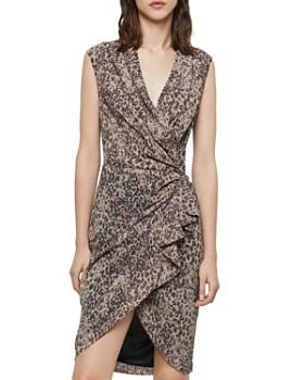 ALLSAINTS - Cancity Patch Leopard Print Wrap Dress