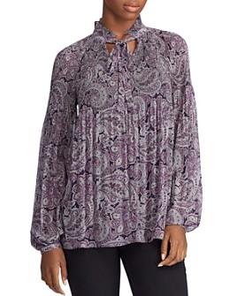 Ralph Lauren - Paisley-Print Tie-Neck Top