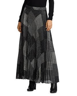 Ralph Lauren - Printed Pleated Maxi Skirt
