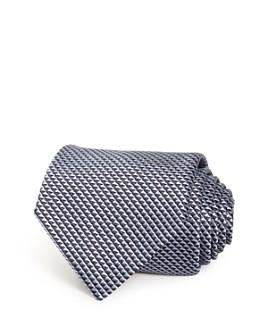 Armani - Triangle Micro Grid Silk Wide Tie