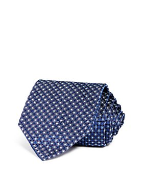 Armani - Neat Grid Silk Wide Tie