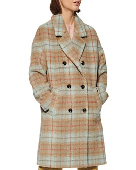 Marc New York - Plaid Double-Breasted Coat