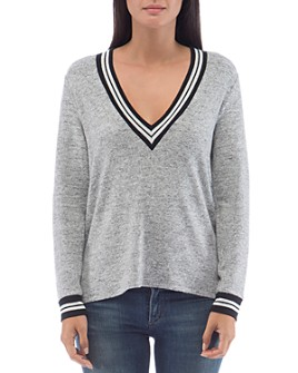 B Collection by Bobeau - Val Cozy Varsity Top